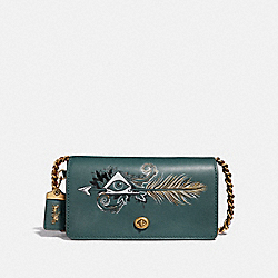 DINKY WITH TATTOO - EVERGREEN/BRASS - COACH F37054
