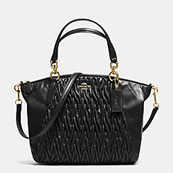 COACH SMALL KELSEY SATCHEL IN GATHERED TWIST LEATHER - IMITATION GOLD/BLACK - F37081