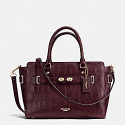 BLAKE CARRYALL IN CROC EMBOSSED LEATHER - f37099 - IMITATION GOLD/OXBLOOD