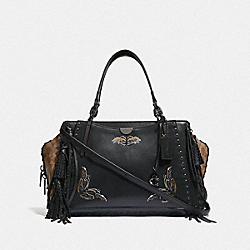 DREAMER 36 IN SIGNATURE CANVAS WITH TATTOO - BP/TAN BLACK - COACH F37122