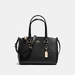 COACH STANTON CARRYALL 26 IN CROSSGRAIN LEATHER - LIGHT GOLD/BLACK - F37145