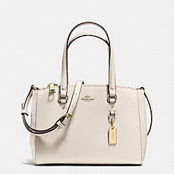 COACH STANTON CARRYALL 26 IN CROSSGRAIN LEATHER - LIGHT GOLD/CHALK - F37145