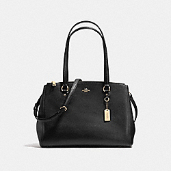 STANTON CARRYALL IN CROSSGRAIN LEATHER - f37148 - LIGHT GOLD/BLACK