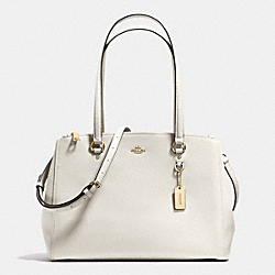 STANTON CARRYALL IN CROSSGRAIN LEATHER - f37148 - LIGHT GOLD/CHALK