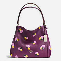 COACH EDIE SHOULDER BAG 31 IN FLORAL PRINT LEATHER - LIGHT GOLD/PLUM/FIELD FLORA - F37160