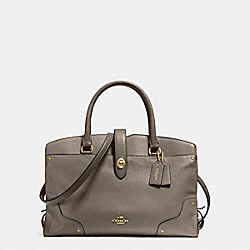 MERCER SATCHEL IN GRAIN LEATHER - f37167 - LIGHT GOLD/FOG