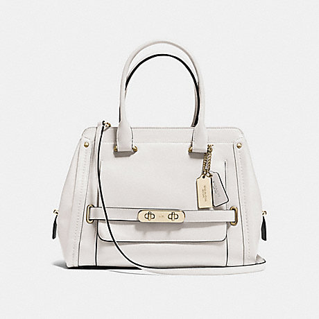 COACH f37182 COACH SWAGGER FRAME SATCHEL IN SMOOTH LEATHER LIGHT GOLD/CHALK