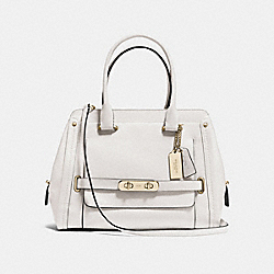 COACH COACH SWAGGER FRAME SATCHEL IN SMOOTH LEATHER - LIGHT GOLD/CHALK - F37182