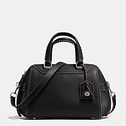 ACE SATCHEL IN GLOVETANNED LEATHER - f37212 - LIGHT ANTIQUE NICKEL/BLACK