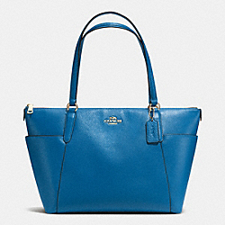 AVA TOTE IN PEBBLE LEATHER - f37216 - IMITATION GOLD/BRIGHT MINERAL