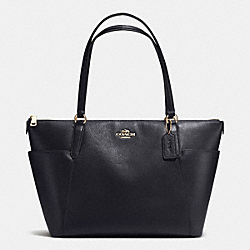 AVA TOTE IN PEBBLE LEATHER - IMITATION GOLD/MIDNIGHT - COACH F37216