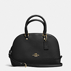 COACH MINI SIERRA SATCHEL IN CROSSGRAIN LEATHER - IMITATION GOLD/BLACK - F37217