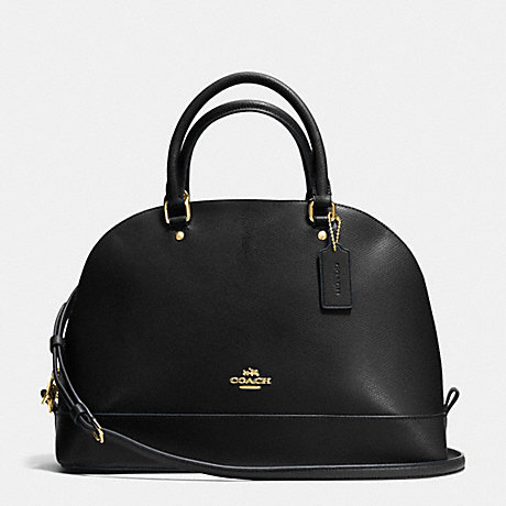 COACH f37218 SIERRA SATCHEL IN CROSSGRAIN LEATHER IMITATION GOLD/BLACK
