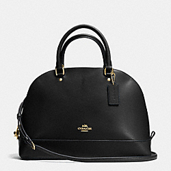 COACH SIERRA SATCHEL IN CROSSGRAIN LEATHER - IMITATION GOLD/BLACK - F37218