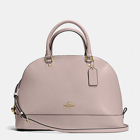 COACH f37218 SIERRA SATCHEL IN CROSSGRAIN LEATHER IMITATION GOLD/GREY BIRCH