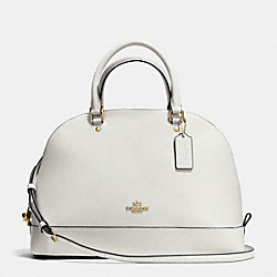 SIERRA SATCHEL IN CROSSGRAIN LEATHER - f37218 - IMITATION GOLD/CHALK