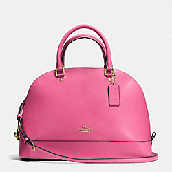 SIERRA SATCHEL IN CROSSGRAIN LEATHER - f37218 - IMITATION GOLD/DAHLIA