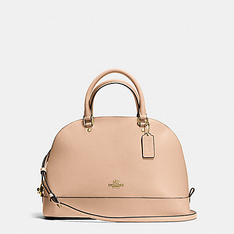 COACH f37218 SIERRA SATCHEL IN CROSSGRAIN LEATHER IMITATION GOLD/BEECHWOOD