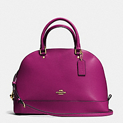 COACH SIERRA SATCHEL IN CROSSGRAIN LEATHER - IMITATION GOLD/FUCHSIA - F37218
