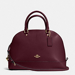 SIERRA SATCHEL IN CROSSGRAIN LEATHER - f37218 - IMITATION OXBLOOD
