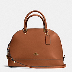 COACH SIERRA SATCHEL IN CROSSGRAIN LEATHER - IMITATION GOLD/SADDLE - F37218
