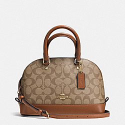 COACH MINI SIERRA SATCHEL IN SIGNATURE - IMITATION GOLD/KHAKI/SADDLE - F37232