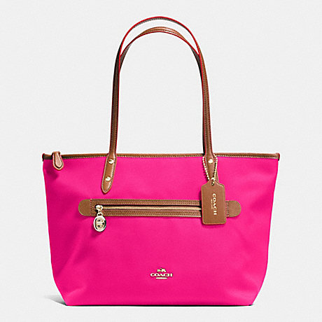 COACH SAWYER TOTE IN POLYESTER TWILL - IMITATION GOLD/PINK RUBY - f37237
