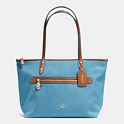 COACH SAWYER TOTE IN POLYESTER TWILL - IMITATION GOLD/BLUEJAY - F37237