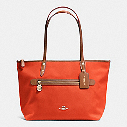 COACH SAWYER TOTE IN POLYESTER TWILL - IMITATION GOLD/PEPPER - F37237