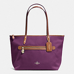 COACH SAWYER TOTE IN POLYESTER TWILL - IMITATION GOLD/PLUM - F37237