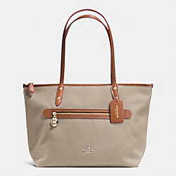 COACH SAWYER TOTE IN POLYESTER TWILL - IMITATION GOLD/STONE - F37237
