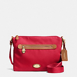 COACH SAWYER CROSSBODY IN POLYESTER TWILL - IMITATION GOLD/CLASSIC RED - F37239