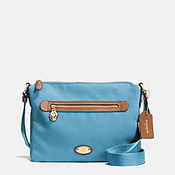 COACH SAWYER CROSSBODY IN POLYESTER TWILL - IMITATION GOLD/BLUEJAY - F37239
