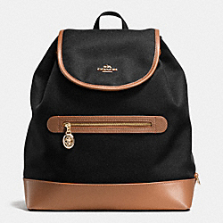COACH SAWYER BACKPACK IN CANVAS - IMITATION GOLD/BLACK - F37240