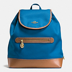 COACH SAWYER BACKPACK IN CANVAS - IMITATION GOLD/BRIGHT MINERAL - F37240