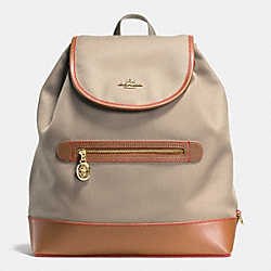 COACH SAWYER BACKPACK IN CANVAS - IMITATION GOLD/STONE - F37240