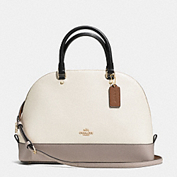 COACH SIERRA SATCHEL IN COLORBLOCK LEATHER - IMITATION GOLD/CHALK/GREY BIRCH - F37246