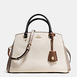 COACH SMALL MARGOT CARRYALL IN COLORBLOCK LEATHER - IMITATION GOLD/CHALK/GREY BIRCH - F37248