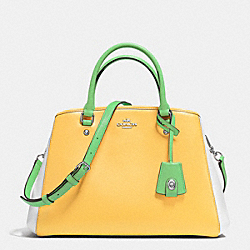 SMALL MARGOT CARRYALL IN COLORBLOCK LEATHER - f37248 - SILVER/CANARY MULTI