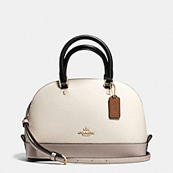 COACH MINI SIERRA SATCHEL IN COLORBLOCK LEATHER - IMITATION GOLD/CHALK/GREY BIRCH - F37249