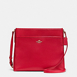 FILE BAG IN PEBBLE LEATHER - IMITATION GOLD/CLASSIC RED - COACH F37321