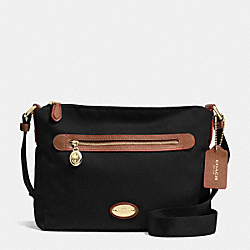 FILE BAG IN POLYESTER TWILL - IMITATION GOLD/BLACK F37336 - COACH F37337