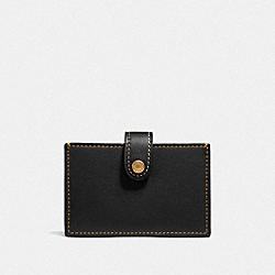 ACCORDION CARD CASE IN COLORBLOCK - BLACK MULTI/BRASS - COACH F37367