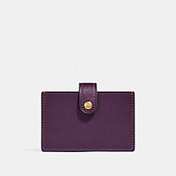 ACCORDION CARD CASE IN COLORBLOCK - PLUM MULTI/BRASS - COACH F37367