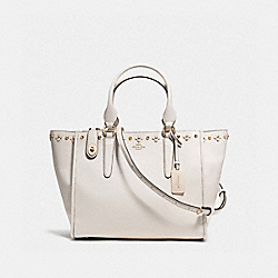 COACH CROSBY CARRYALL WITH FLORAL RIVETS - CHALK/LIGHT GOLD - F37400