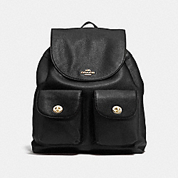 COACH BILLIE BACKPACK IN PEBBLE LEATHER - IMITATION GOLD/BLACK - F37410