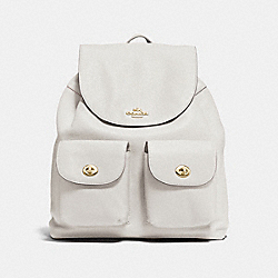 BILLIE BACKPACK IN PEBBLE LEATHER - f37410 - IMITATION GOLD/CHALK
