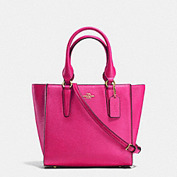 CROSBY CARRYALL 24 IN PEBBLE LEATHER - f37415 - LIGHT GOLD/CERISE
