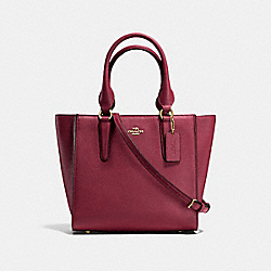 CROSBY CARRYALL 24 - BURGUNDY/LIGHT GOLD - COACH F37415