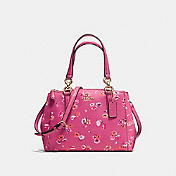 COACH MINI CHRISTIE CARRYALL IN SMALL WILDFLOWER PRINT COATED CANVAS - IMITATION GOLD/DAHLIA MULTI - F37421